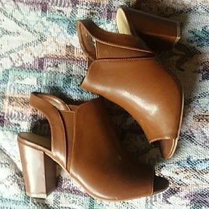 Open toe booties by Chinese laundry